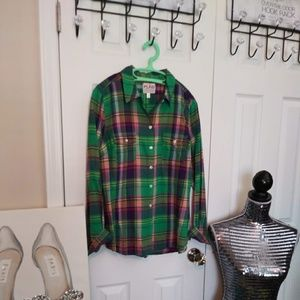 🌀NEW LISTING🌀BRAND NEW PLAID OLD NAVY SHIRT
